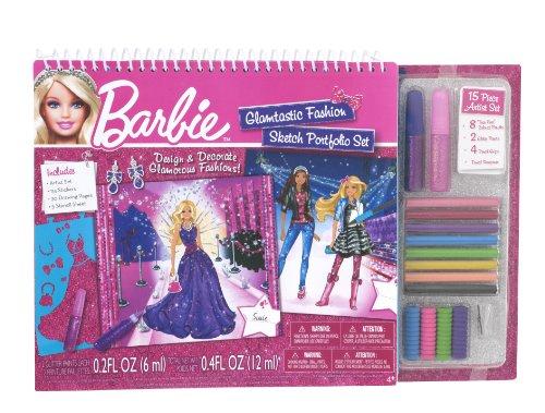 Fashion Angels Fashion Angels Barbie Glamtastic Fashion Sketch Portfolio Set