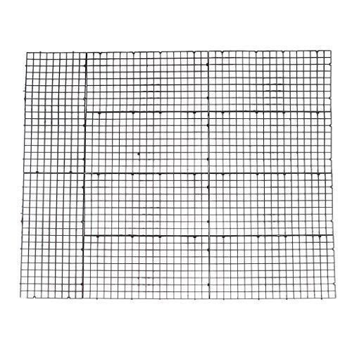 SM SunniMix 10 Stücke Aquarium Trennwand Isolation Filter Partition Board Net - Schwarz 30x15cm