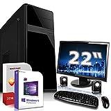 Gaming PC Komplett Set/Multimedia Computer|Windows 10 Pro 64-Bit|AMD Quad-Core A10-7850K 4x4,0GHz|AMD Radeon R7|16GB DDR3 RAM|120GB SSD+1000GB HDD|22-Zoll TFT|USB 3.0|HDMI|Gamer PC|3 Jahre Garantie