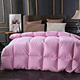Luxus extra warmes Winterbett Daunendecke Bettwäsche Wendebett Leichte Daunendecke Weiche Daunendecke Alternative All Seasons Duvet Insert With-Rosa_200 x 230 cm daunendecke 135x215 winter billerbeck