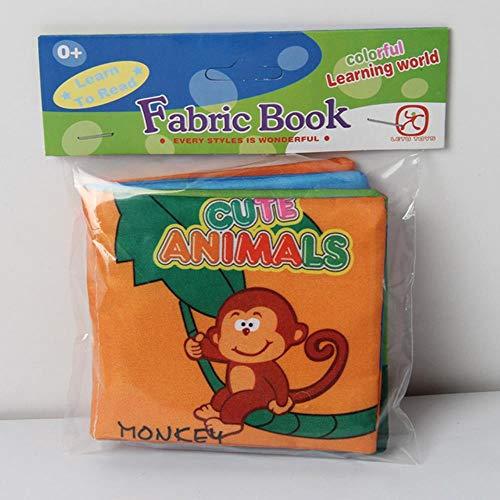 Fat Mashroom 11 Style Aktivitätsbuch Englischsprachige Stoffe Stoff Babybücher Lernen Bildung Babyspielzeug 0~12 Monate Juguetes Bebe, süßes Tier