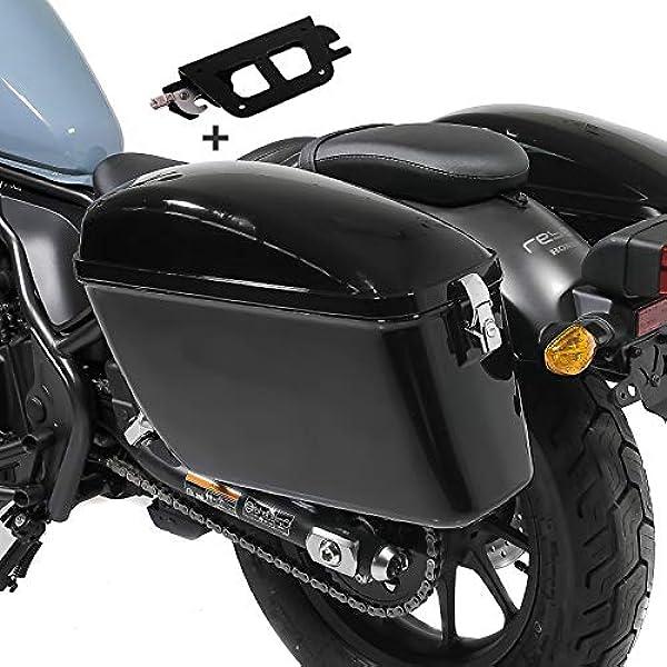 Seitenkoffer Kompatibel Für Kawasaki Vulcan S 15 20 Mit Halter Abnehmbar Satteltasche Dallas Auto
