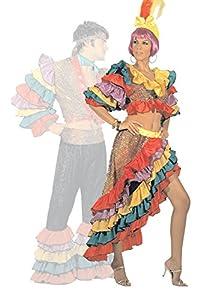 FIORI PAOLO gr5126-Bailarina Carioca disfraz Carnaval Atelier, talla S, multicolor