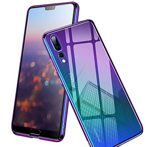 Conie TC11473 Twilight Case Kompatibel mit Huawei P30 Pro, Farbwechsel Hülle Effekt Handycover Rückschale Case Schutzhülle rutschfest Kantenschutz Mehrfarbig Violett
