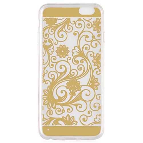 Phone case & Hülle Für iPhone 6 / 6S, Ultra-dünnen Blumenmuster Soft TPU Schutzhülle ( Color : Yellow ) Gold