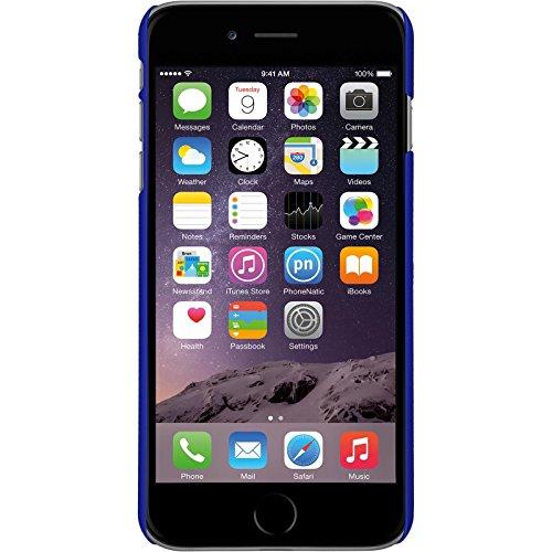 PhoneNatic Case für Apple iPhone 6 Plus / 6s Plus Hülle hellblau gummiert Hard-case für iPhone 6 Plus / 6s Plus + 2 Schutzfolien Blau
