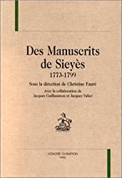 Des manuscrits de Sieyes, 1773-1799