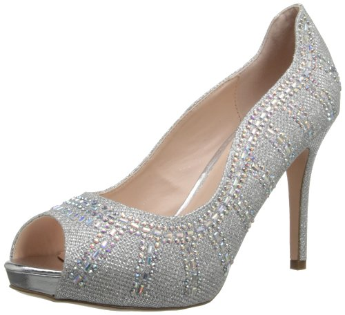 Coloriffics Women s Angela Platform Pump Silver 11 B(M) US