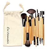 Kolylong® 18pcs Professional Kosmetik Satz Grundlagen -Puder Lidschattenpinsel Eyeshadow Brush Kolylong gelb