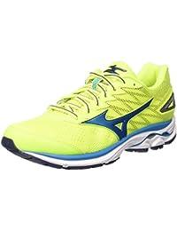 MIZUNO WAVE RIDER 20 JAUNE FLUO ET BLEUE Chaussures de running