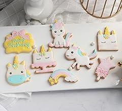 Idea Regalo - Anokay set Formine per Biscotti Unicorno - 12 pezzi Stampini per Biscotti Unicorno - Elementi Decorativi Unicorno per Decorazioni Torte Dolci e Decorazioni Pasticceria Dolce