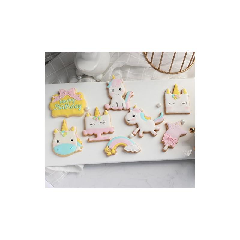Anokay 12tlg Einhorn Fondant Ausstechform Pltzchen Unicorn Ausstecher Fr Backen Kuchen Deko Tortendekoration Geburtstagsdeko