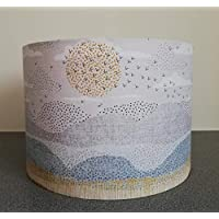 Handmade Lampshade made Horizon Sunset Birds Fabric Lamp Shade Light