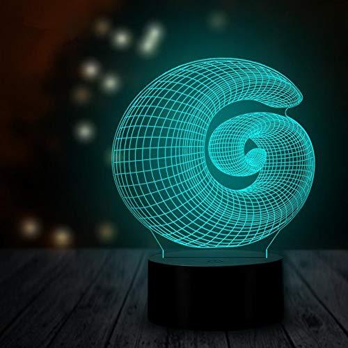 Abstract Multi Color (3D Led Illusion Tischlampe Hologramm 3D Lampe Nachttischlampe Decorative Lights 3D Led Nachtlichter Beleuchtung Stimmungslichter Multicolor Abstract 3D Illusion Home Decor Moderne Dekorative Lampen)