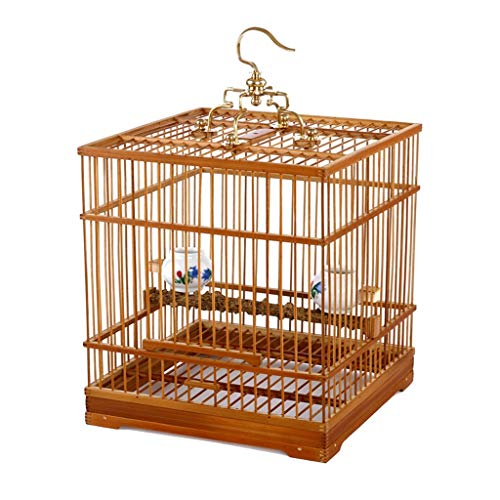 Il Vecchio Gabbia di bambù Quadrata del Ricamo di Gabbia di Uccello del Boutique di Giallo degli Occhi 鹂 abbellisce Il Fondo Vivo della Gabbia per Uccelli dell\'uccello dell\'uccello
