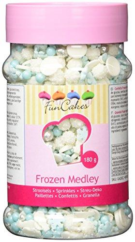 FunCakes Sprinkle Medley -Frozen, 1er Pack (1 x 180 g) (180 Gelatine)