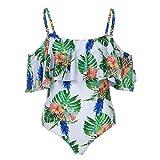Amlaiworld sommer bunt Blätter und blumen druck Bikinis band Tropischer Stil bademode strand elegant damen badeanzüge Schwimmen Ananas sport Beachwear (XL, E)
