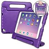 Coque Apple iPad Mini 4, [Poignée épaisse 2-en-1 : Transport & Support] Coque pour Enfants Cooper Dynamo Robuste à Toute épreuve Mousse EVA résiste aux Chutes + Poignée, Protection d'Écran Violet