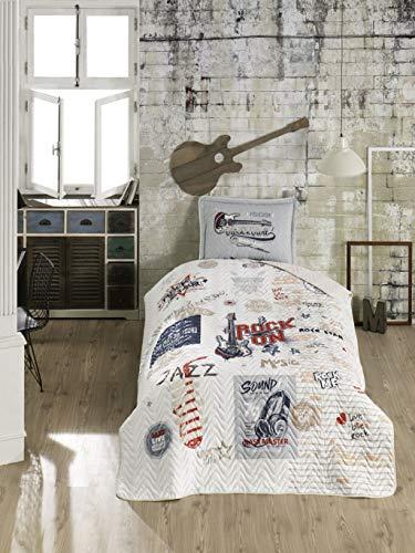 ZIRVEHOME Kinder Tagesdecke - Set. 180 x 240 cm. mit Kissenbezug, für Einzelbett, Freedom