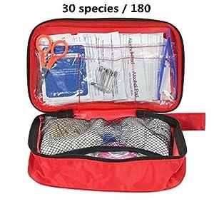 Lan 180 Teile/Satz 30 Arten Erste Hilfe Kit Notfalltasche Home Auto Outdoor Guide Kit