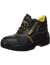 Wolfpack 15018010 - Botas seguridad piel, tamaño 38, color negro