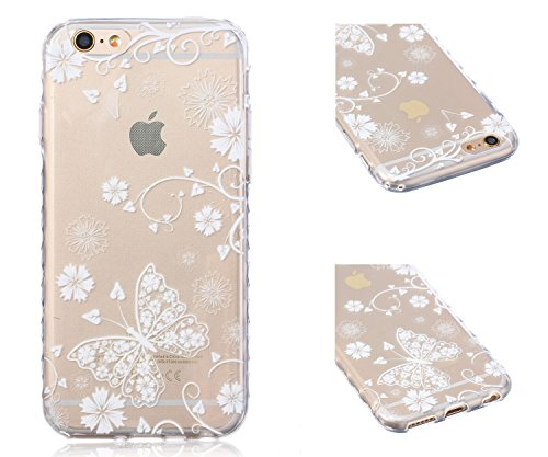 ZeWoo TPU Schutzhülle - BF031 / I Love Giraffe - für Apple iPhone 6 (4,7 Zoll) Silikon Hülle Case Cover BF032 / Schmetterling und Blume