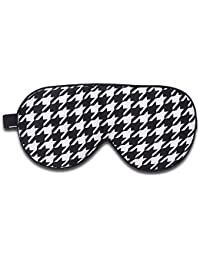 ALASKA BEAR - Natural Silk Sleep Masks & Blindfold, Super-Smooth Eye mask for Sleeping (One Strap, Black Houndstooth)