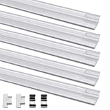 LED Profil, Jirvyuk Alu Profil Led U -Form 5 Pack 1M / 3.3ft Aluminium Extrusion Track klar Deckel Endkappen Metall Befestigungs clips (Transparent-YW)