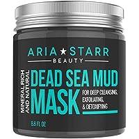 Aria Starr Mascarilla de barro del mar Muerto, para la cara, el acné y los puntos negros, reduce los poros, tratamiento.