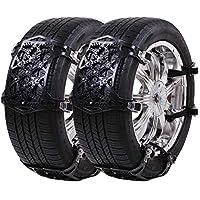Universal Schneeketten UniAuto Einfach zu montieren Reifen Schneekette für Jede Reifenbreite 165-285mm,6-teiliges Set, [2018 Upgrade] (Schwarz)