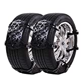 UniAuto Universal Snow Chains Easy to Mount Tire Snow Chain for Any Tire