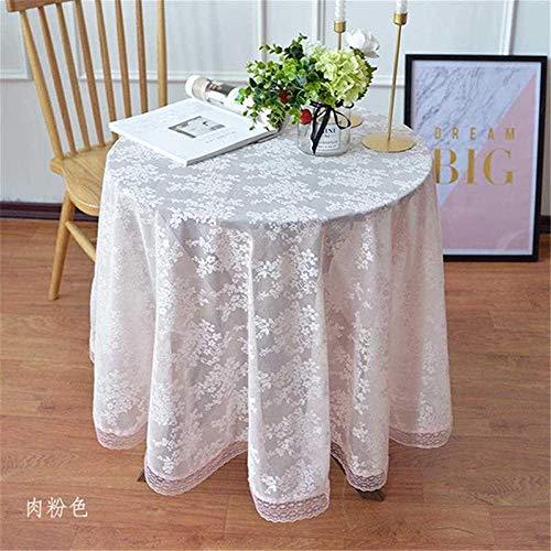 FuJia Tischdecken Kleine runde Tischdecke Kaffeetischdecke Durchbrochene Spitze Abdeckung Handtuch Dekoration, 140cm