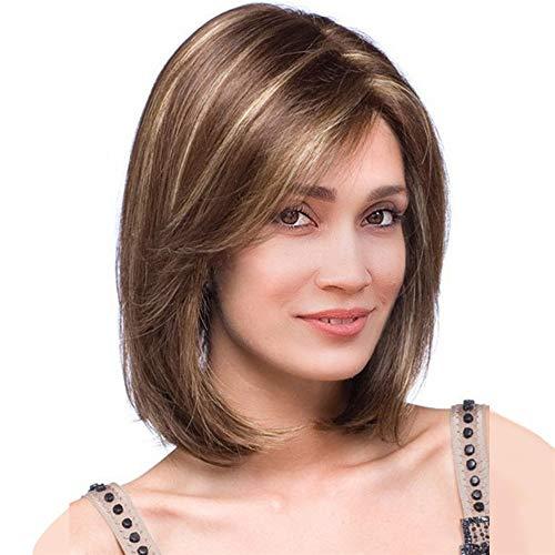 Perruque Blonde Femme feiXIANG Vrai Cheveux Naturel Postiche Cheveux Chignon Blond Perruque Synthétique Bresilienne Postiche Longue