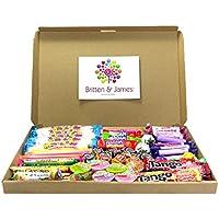 Caja de 100 dulces mixtos para niños. Ideal para bolsas de fiesta, favores de la boda, premios, rellenos de piñata (¡o simplemente siéntelos y coméntelos usted mismo)! Exclusivamente de Britten y Jame