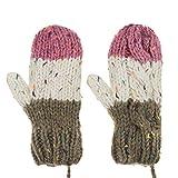 Fäustlinge Damen Erwachsene Handschuhe Doppelschicht Winter verdicken Warm gefüttert Strichandschuhe Fäustling Winterhandschuhe
