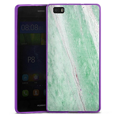DeinDesign Huawei P8 lite (2015-2016) Slim Case lila Silikon Hülle Schutzhülle Marble Trend frühling