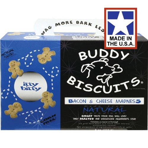 Artikelbild: Cloud Star Cloud-Sterne Itty Bitty Kumpel Kekse Getreide Kostenlos Hund Behandelt Speck Und Käse 8 Unzen