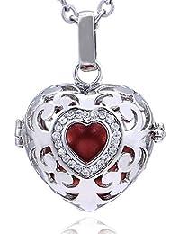 f1f724ca1842 Morella collar ángel de la guarda de acero inoxidable 70 cm con colgante  amor-corazón