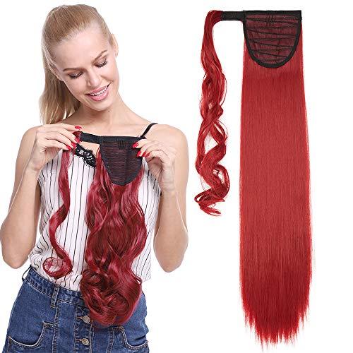 TESS Ponytail Extension Pferdeschwanz Haarteil Clip in wie Echthaar Haarverlängerung günstig Zopf Extensions Haarteile Glatt 23