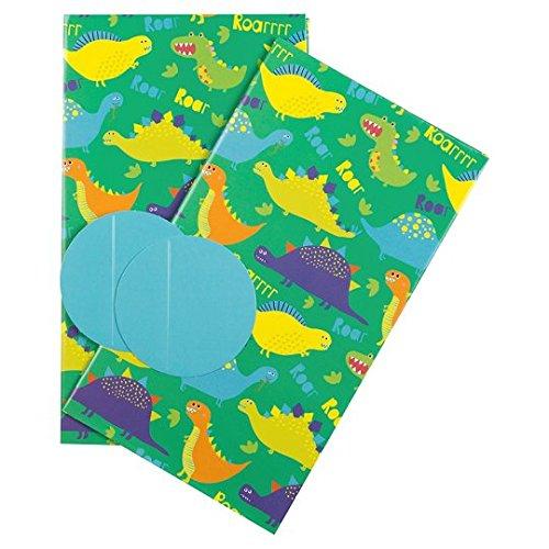 Dinosaurio Tarjeta de cumpleaños Bundle con 2Dinosaurios regalo y etiquetas de regalo
