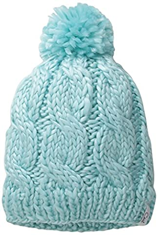 Coal Women's The Rosa Chunky Cable Pattern Beanie with Pom Pom, Sea Foam, One Size