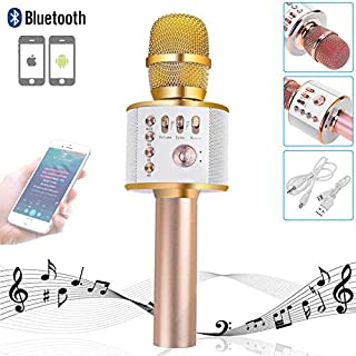 Kabellose Karaoke-Mikrofone Bluetooth Lautsprecher Tragbares Mikrofon für Android & iOS Smartphone / PC / Aufnahme / Mac / iPad / Singen und Aufnahme / Laptop / Handy / Home KTV Outdoor Party Muisc Spielen Gesang