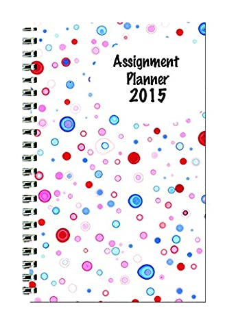 House of Doolittle Weekly Planner Student Assignment Book 12 Months January 2015 to December 2015, 5 x 8 Inches, Dot Design Cover Recycled Materials Made in the USA (HOD274RTGCY57-15)
