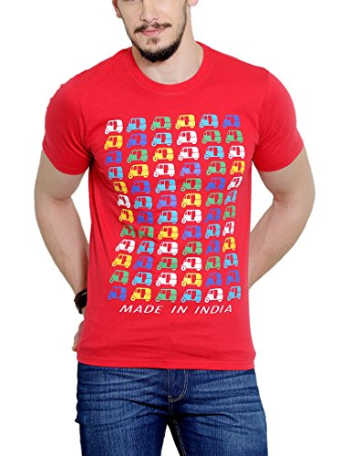 Yepme Men's Red Graphic T-shirt -YPMTEES0249_S  available at amazon for Rs.179