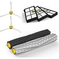 Adtechome  Kit de Piezas de Repuesto de Aspirador para iRobot Roomba 800/900 series 870 880 980, Kit de piezas de repuesto de Robots de limpieza por vacío