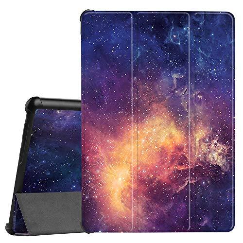 Fintie Hülle Case für Huawei MediaPad T5 10 - Ultra Dünn Superleicht Flip Schutzhülle mit Zwei Einstellbarem Standfunktion für Huawei MediaPad T5 10 10.1 Zoll 2018 Tablet PC, Die Galaxie