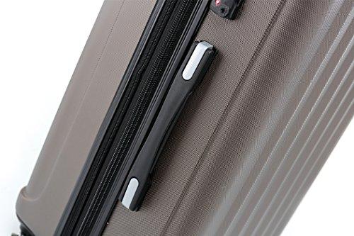 BEIBYE TSA-Schloß 2080 Hangepäck Zwillingsrollen neu Reisekoffer Koffer Trolley Hartschale Set-XL-L-M(Boardcase) in 12 Farben (Coffee, Set) - 3