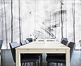 Fototapete 3D Effekt Tapete Moderne Präzise Und Abstrakte Wald Elch Tier Skandinavischen Sofa Vliestapete 3D Wallpaper Moderne Wanddeko Wandbilder