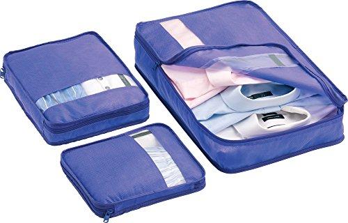 Tasche Packer - Lila, S 23x20x2cm; M 28x23x5cm; L 29x46x6cm -