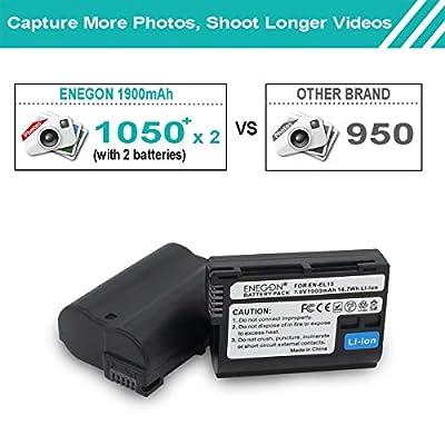 ENEGON Replacement Battery 2-Pack and Rapid Dual Charger Kit for Nikon EN-EL15 15a 15b and Nikon D7100 D750 D7000 D7200 D810 D610 D800 D600 D800e D810a
